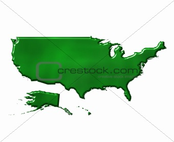 3D USA Ecological Map