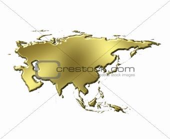 Asia 3d Golden Map