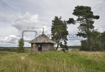 Ancient chapel and cross