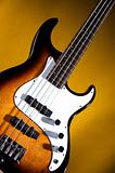 Electric Bass Guitar On Gold