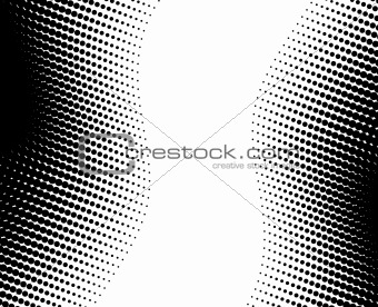 abstract wave halftone