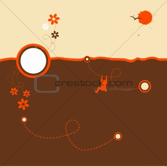 Abstract nature design, summer