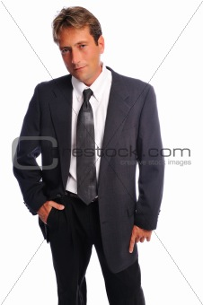 businessman casual pose