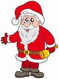Cute Santa Claus with bell