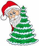 Santa Claus and Chrismas tree
