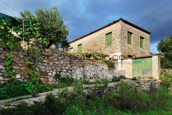 Greek village setting
