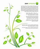 nature ornament design template