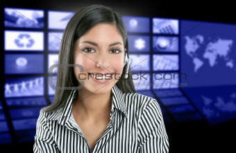 Beautiful indian woman television news presenter
