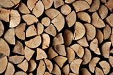 Cut firewood stack logs as pattern