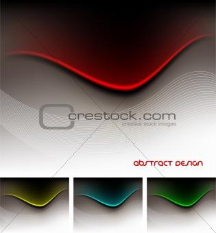 Clean Futuristic Design Template Series