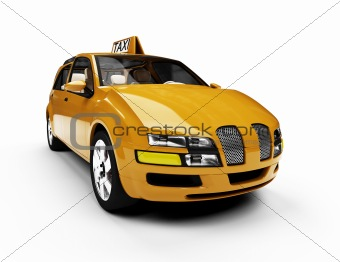 Future concept of taxi car isolated view