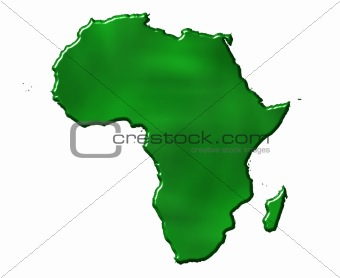 3D Ecological Africa Map
