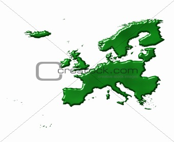 3D Ecological Europe Map