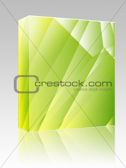 Angular crystal abstract design box package