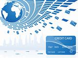 pool of credit cards around the globe