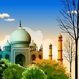 view of Taj Mahal, agra, India, trees