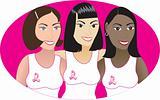 Pink Cancer Ribbon Women 2