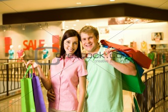 Couple of shopaholics
