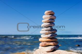 Pile of pebble