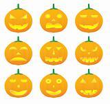 halloween pumpkin vector illustrations
