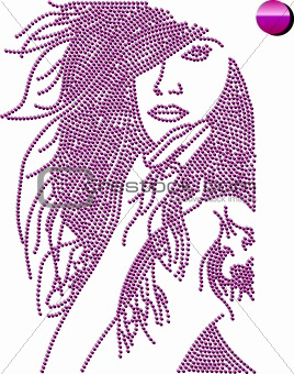 vector ornamental girl