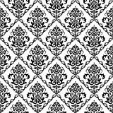 Black & white floral wallpaper