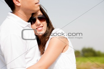 beautiful Couple Hugging