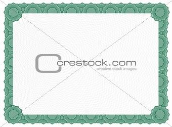 Blank Certificate - Green