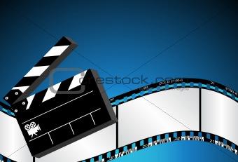 Blue Movie Background