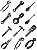 Tools Icons - black and white
