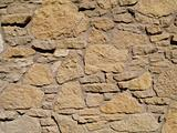 Multi-Sized Tan Stone Wall