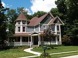 New Two Story Victorian Historical Styled Residential Home