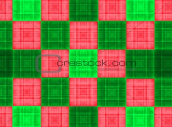 bright green and red square texture background