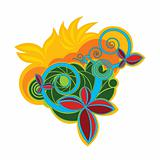 color abstract flower design