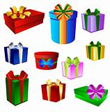Set of colorful prestents - gift boxes