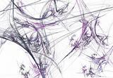 Gray and Lavender Fractal Spider Webs