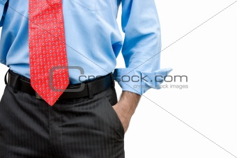 business man with a hand in his pocket