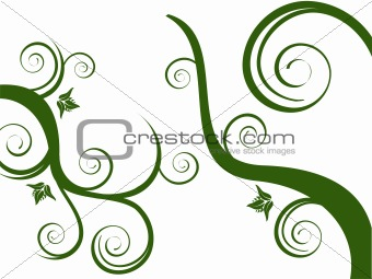 green floral elements