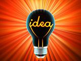 bulb, which represents the birth of the idea