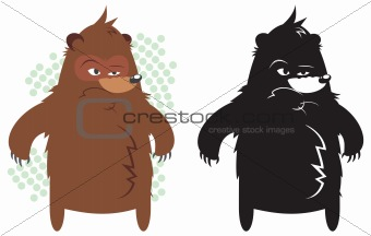 Angry fat bear