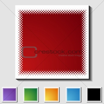 Set of Square Icons - Half Tone - Blank