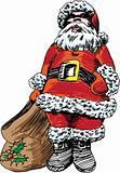 Hand Drawn Santa