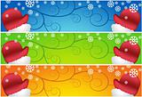 Waving Santa Scroll Banners