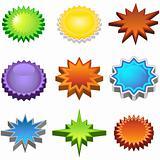 Three Dimensional Starburst Stickers