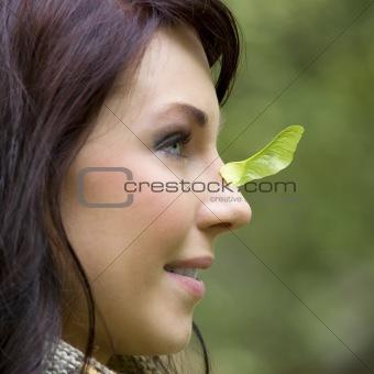 close up portrait girl