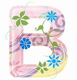 flower alphabet writing