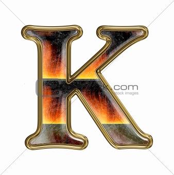 alphabet sytle writing
