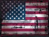 grungy us flag