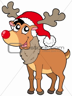 Cartoon Christmas reindeer