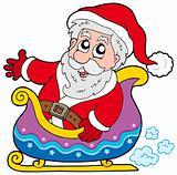 Santa Claus on sledge